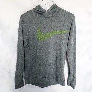 Nike Boys Dri Fit Swoosh Pullover Gray Hoodie